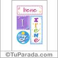 Irene - Carteles e iniciales