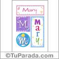 Mary - Carteles e iniciales
