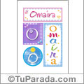 Omaira - Carteles e iniciales