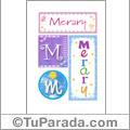 Merary - Carteles e iniciales