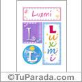 Luxmi- Carteles e iniciales