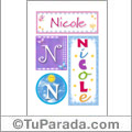 Nicole - Carteles e iniciales