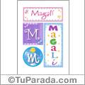 Magali - Carteles e iniciales