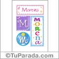 Morena - Carteles e iniciales