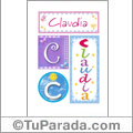 Claudia - Carteles e iniciales
