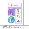 Laura - Carteles e iniciales