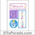 Graciela - Carteles e iniciales