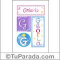Gloria - Carteles e iniciales