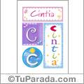 Cintia - Carteles e iniciales