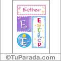 Nombre Esther para imprimir carteles