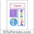 Isabel, nombre, imagen para imprimir