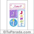 Nombre Janet para imprimir carteles