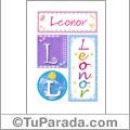 Leonor, nombre, imagen para imprimir