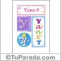 Nombre Yanet para imprimir carteles