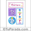 Nombre Bárbara para imprimir carteles