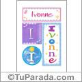 Ivonne, nombre, imagen para imprimir