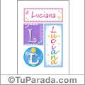 Luciana, nombre, imagen para imprimir