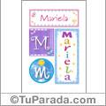 Nombre Mariela para imprimir carteles