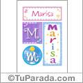Nombre Marisa para imprimir carteles