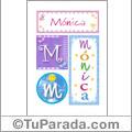 Mónica, nombre, imagen para imprimir