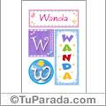 Wanda, nombre, imagen para imprimir
