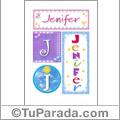 Nombre Jenifer para imprimir carteles