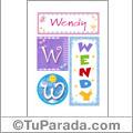 Nombre Wendy para imprimir carteles