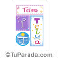 Nombre Telma para imprimir carteles
