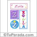 Nombre Zoila para imprimir carteles