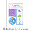 Romina, nombre, imagen para imprimir