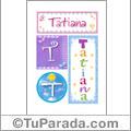Nombre Tatiana para imprimir carteles