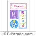Roxana, nombre, imagen para imprimir