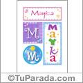 Mayka, nombre, imagen para imprimir