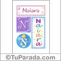Nombre Naiara para imprimir carteles
