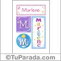 Nombre Marlene para imprimir carteles