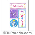 Micaela, nombre, imagen para imprimir
