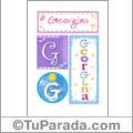 Nombre Georgina para imprimir carteles