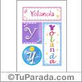 Yolanda, nombre, imagen para imprimir