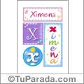 Ximena, nombre, imagen para imprimir