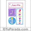 Janette, nombre, imagen para imprimir