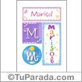 Nombre Marisol para imprimir carteles