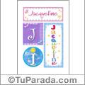 Nombre Jacqueline para imprimir carteles