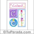 Celinell, nombre, imagen para imprimir