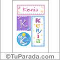 Nombre Kenia para imprimir carteles