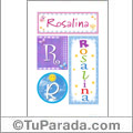 Nombre Rosalina para imprimir carteles