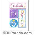Nombre Olinda para imprimir carteles