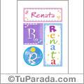 Nombre Renata para imprimir carteles