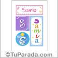 Nombre Samia para imprimir carteles