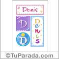Nombre Denis para imprimir carteles