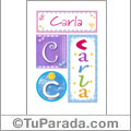 Nombre Carla para imprimir carteles